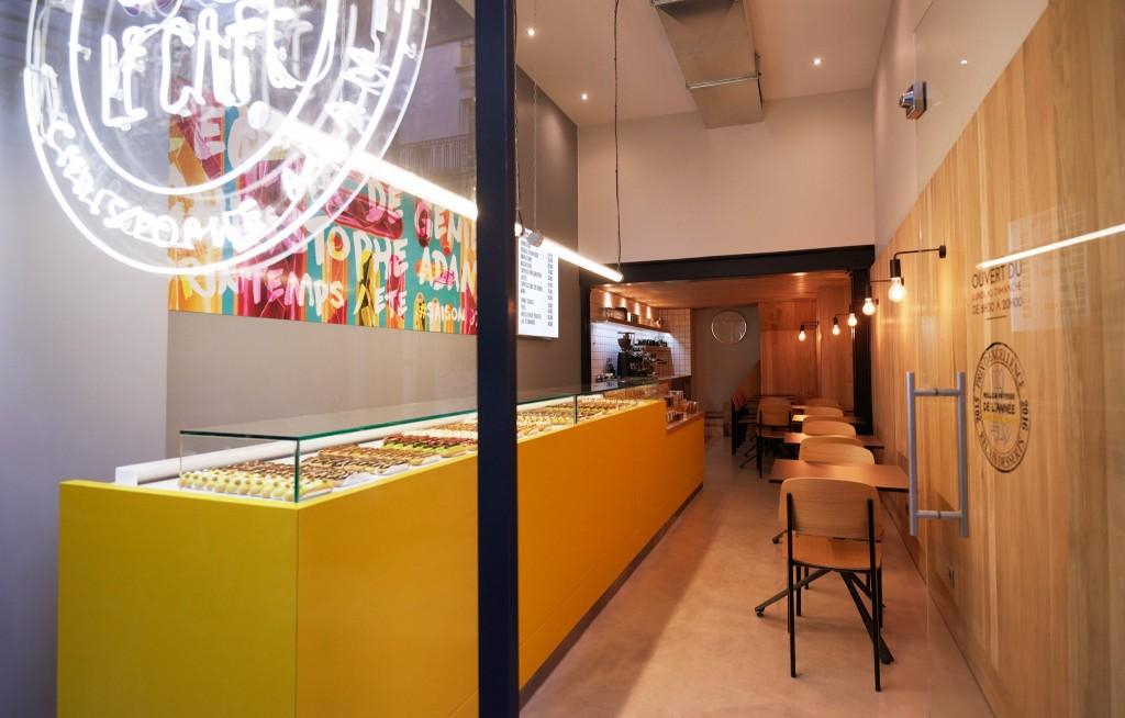 Christophe Adam, nouvelle boutique et chouger glacé.
